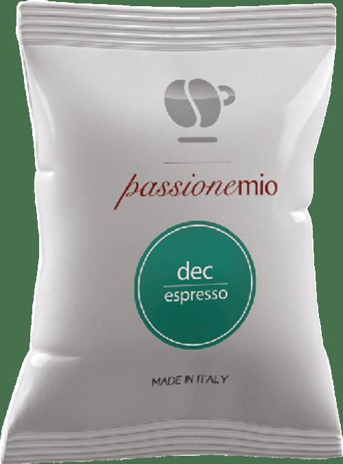 100 capsule Passione Mio Dek compatibili Lavazza A Modo Mio