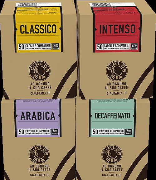 200 capsule compatibili Nespresso® a scelta