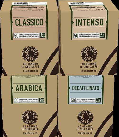200 capsule compostabili compatibili Nespresso® a scelta