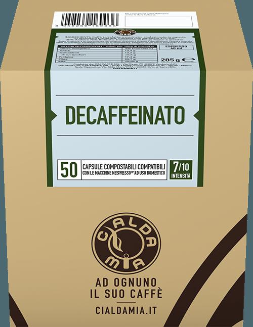 50 capsule Decaffeinato compostabili compatibili Nespresso®