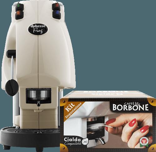 Macchina Frog a scelta + kit degustazione Borbone 90 cialde Ese 44 mm